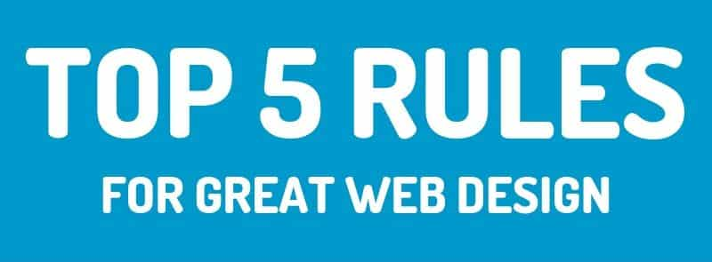 Rules for Great Web Design