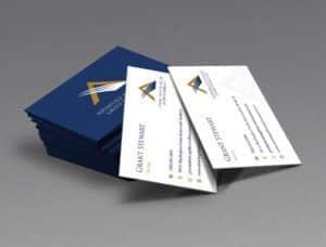 Advantage Financial Group Business Card Design