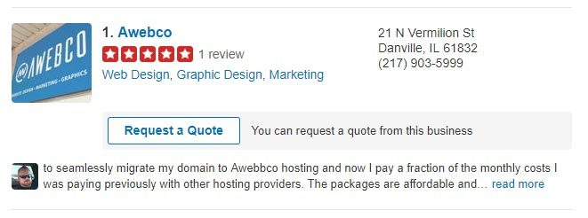 Example of a Good Yelp Listing