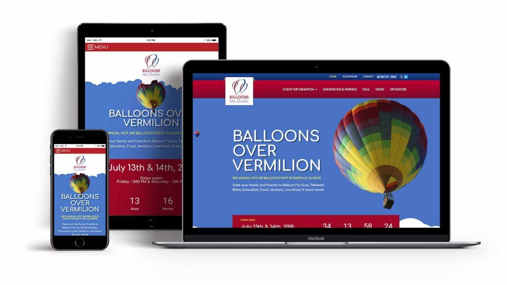 Balloons Over Vermilion - Event Services Website Design by Awebco