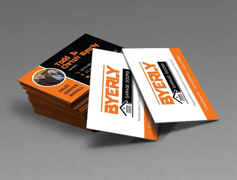 Byerly Garage Door Business Cards Designed by Awebco