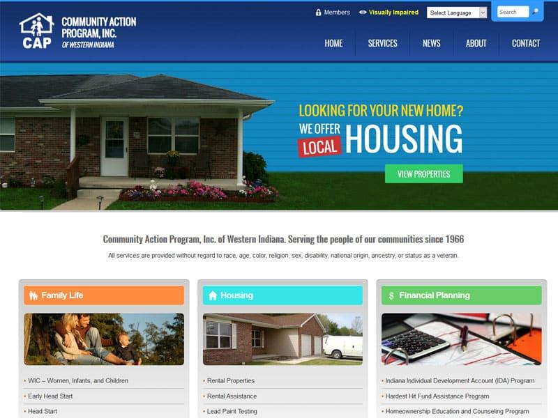 Community Action Program of Western Indiana Website Designed by Awebco