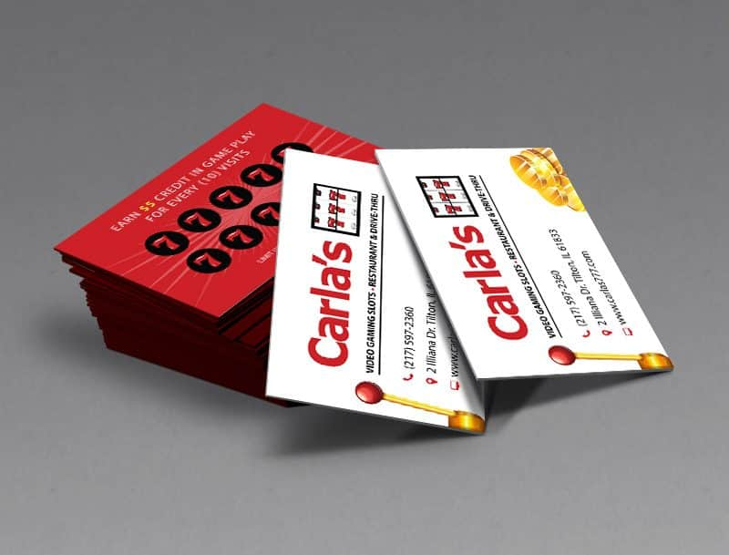 Carlas 777 - Business Cards Designed and Printed by Awebco