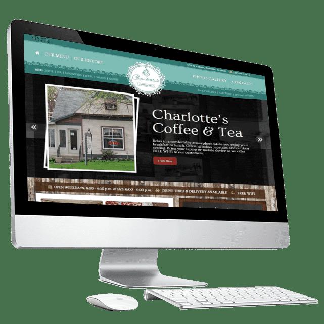 Charlottes Restaurant Website Design by Awebco
