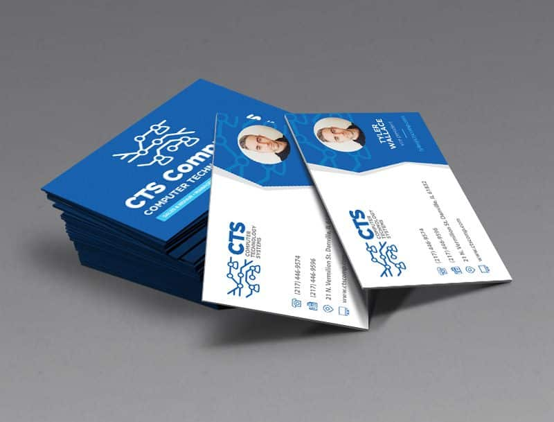 CTS Computers Business Card Design