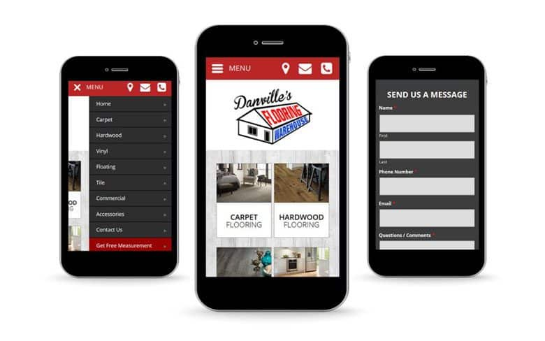 Danville Flooring Mobile Website Design