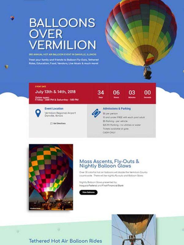 Balloons Over Vermilion Website