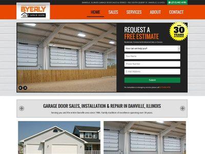 Byerly Garage Door Website Designed by Awebco