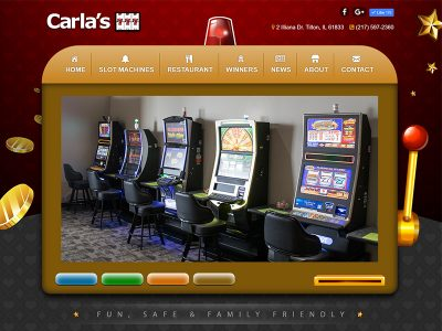 Carlas 777 - Custom Gaming Website Designed by Awebco