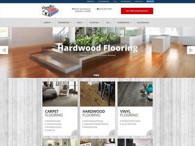Danville Flooring Website Designed by Awebco