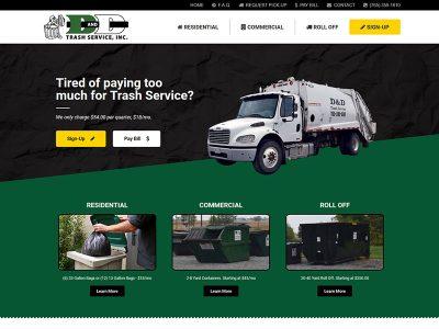 DD Trash Service Website Design in Illinois