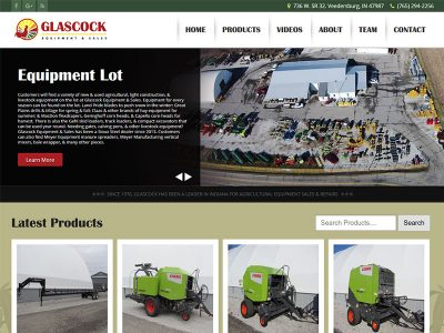 Glascock Equipment & Sales - Farm Equipment Ecommerce Website Designed by Awebco