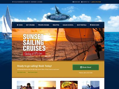 Monterey Bay Sailing Website Designed by Awebco