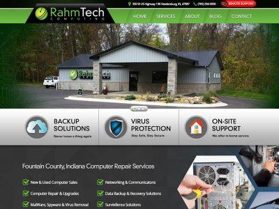RahmTech Custom Website Designed by Awebco