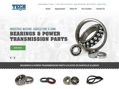 Tech Industrial Sales - Website Designed by Awebco