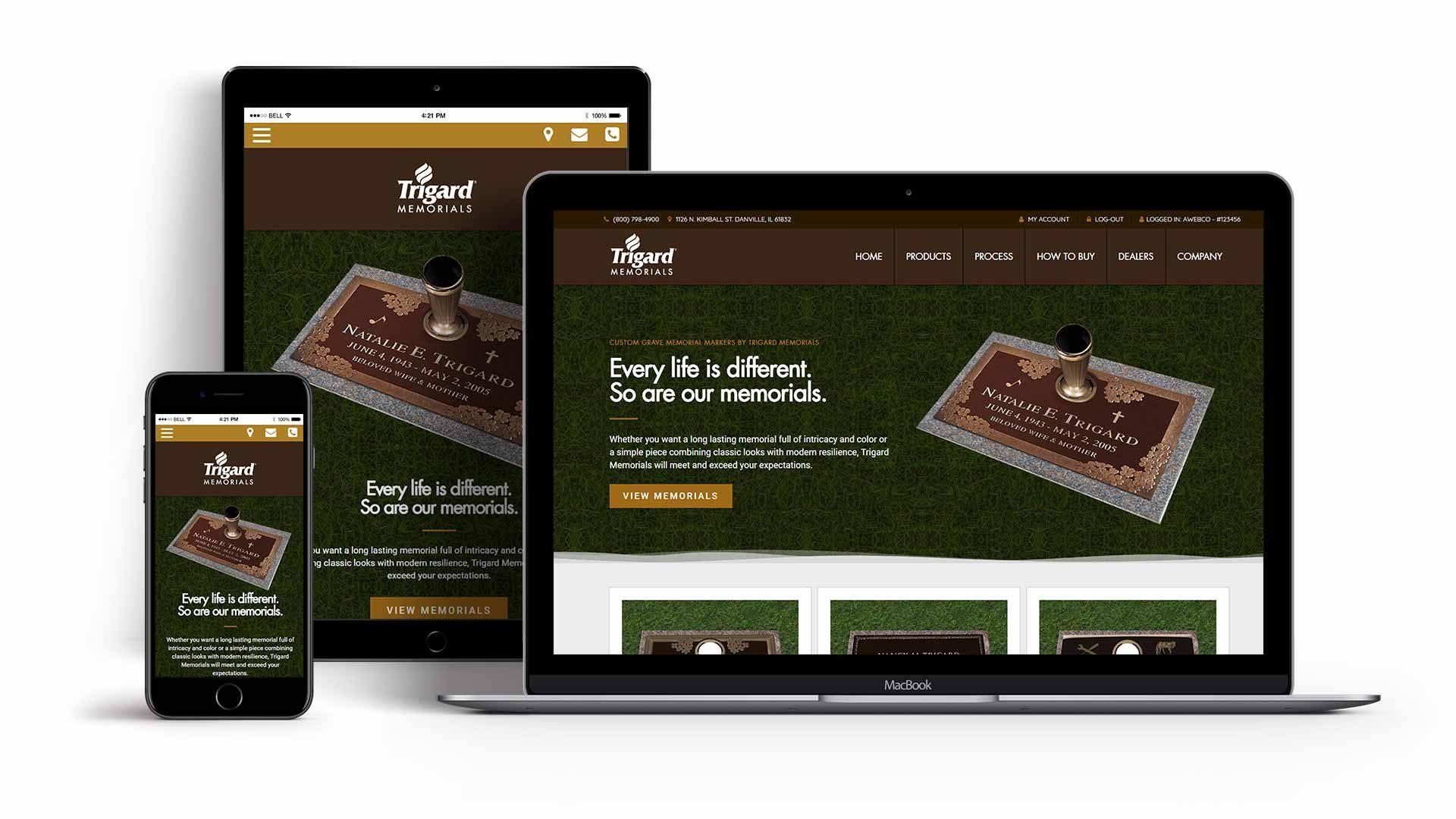 trigard-memorials-website-design