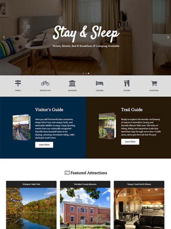 Visit Danville Area - Website Design