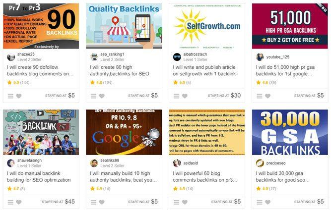 Fiverr Backlinks Examples