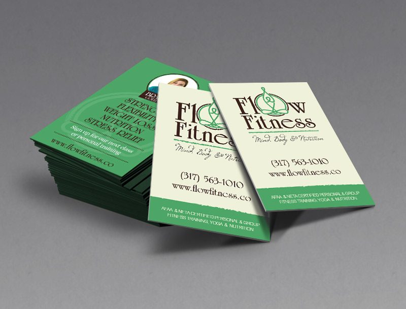 Flow Fitness Business Card Design
