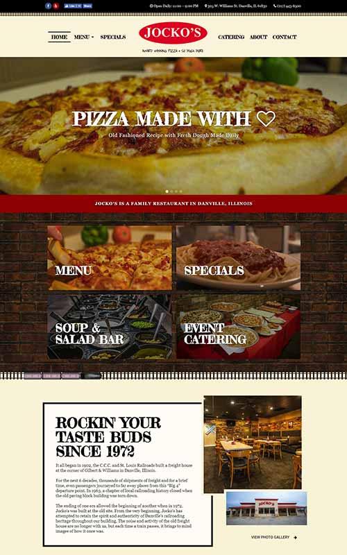 Jockos Pizza - Restaurant Web Design by Awebco
