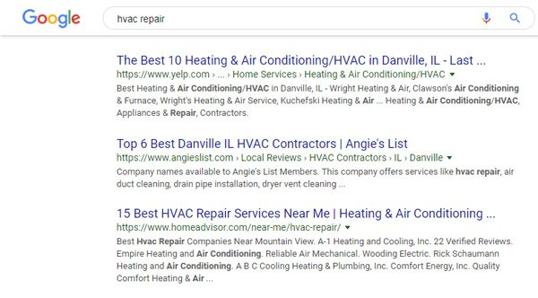 Local Citations / Business Listings - HVAC Repair