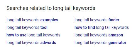 Long Tail Keywords Search Example