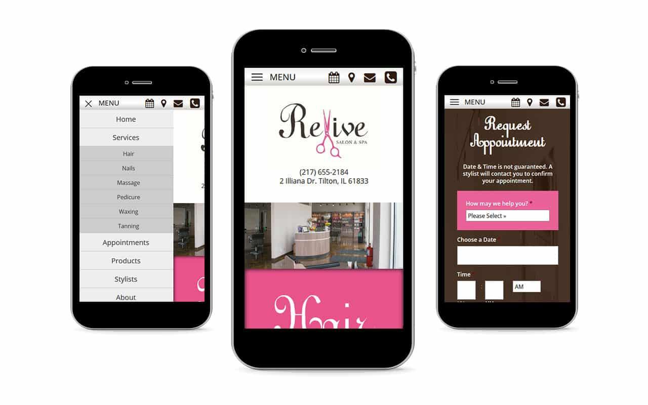 Revive Salon & Spa - Salon Website Design by Awebco