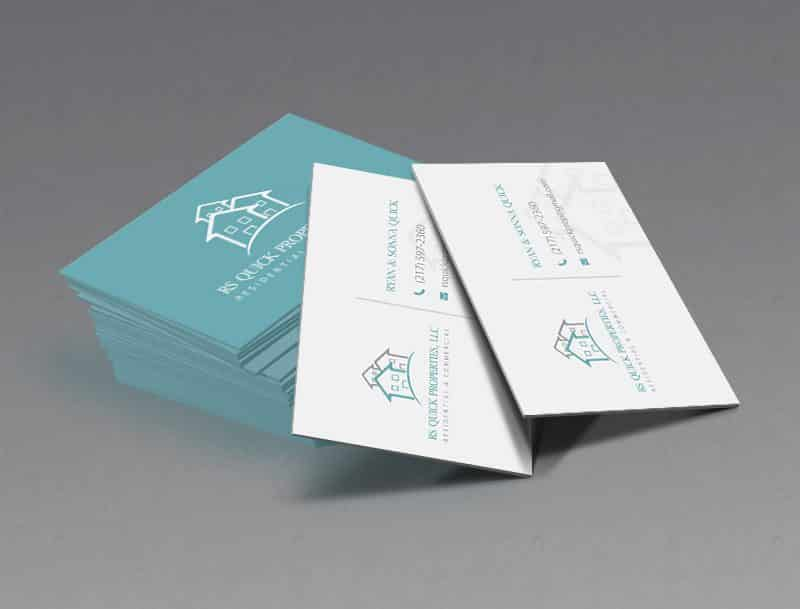 RS Quick Properties Business Card Design