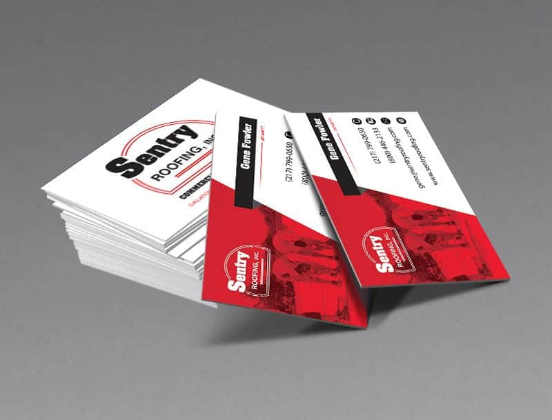 Sentry Roofing Business Card Design