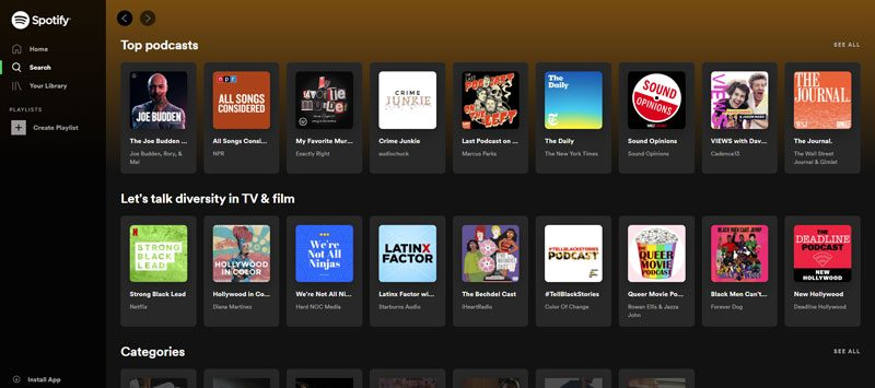 Spotify for Podcasts