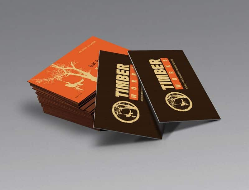 Timber Works Business Cards Designed by Awebco