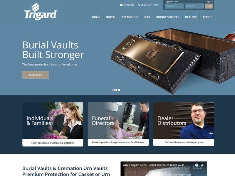 Trigard - Custom Website by Awebco