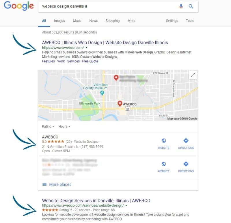 Web Design Danville IL Search Results